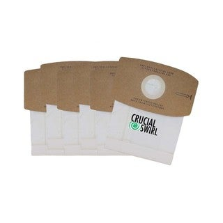 6 Crucial Swirl Micro Lined Vacuum Bags Also Fits Simplicity Sport Type S/ Ss-6 and Riccar Supraquik Rsq-6 By Crucial Vacuum