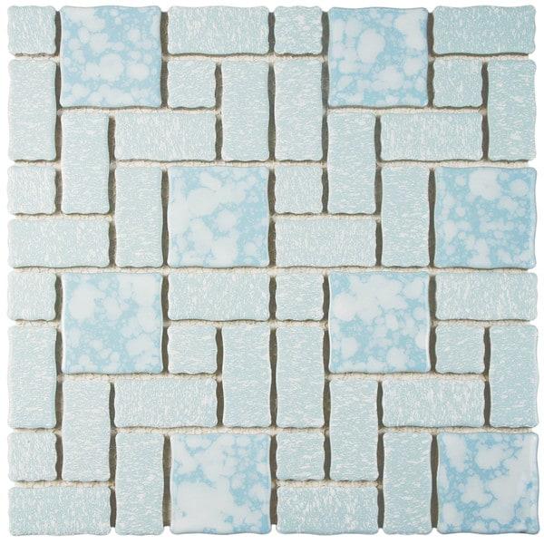 Somertile collegiate blue porcelain for 10 inch floor tiles