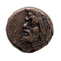American Coin Treasures Ancient Greek Bronze Devil Pan Coin