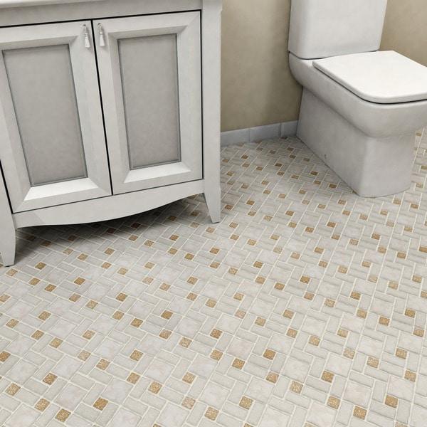 Somertile collegiate beige porcelain for 16 inch floor tile