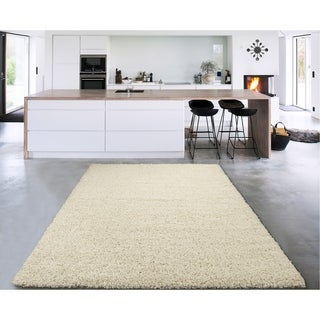 Cozy Shag Collection Solid Shag Rug (7'10 x 9'10)