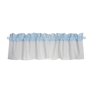 Trend Lab Blue Taffy Window Curtain Valance