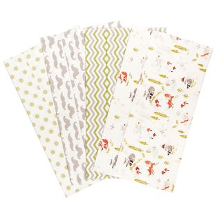 Trend Lab Winter Woods Deluxe Flannel Burp Cloths (Set of 4)