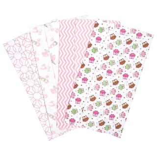 Trend Lab Owl Garden Deluxe Flannel Burp Cloths (Set of 4)