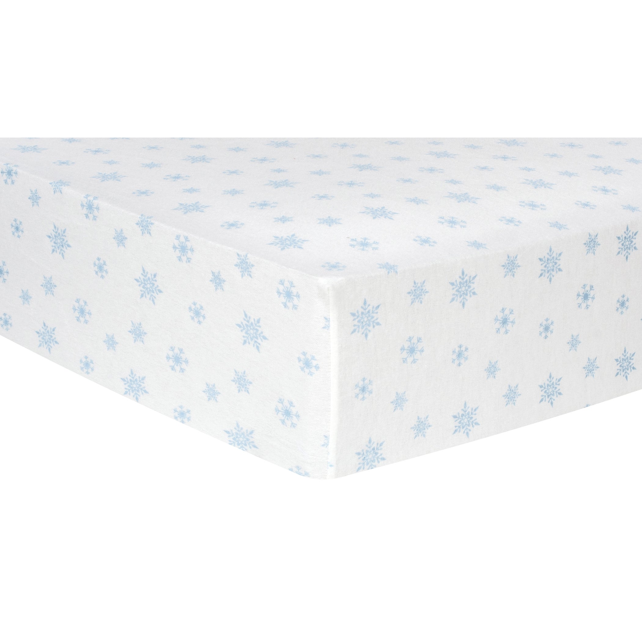 Trend Lab Blue Snowflakes Deluxe Flannel Fitted Crib Shee...