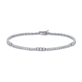 Auriya 14k White Gold 2ct TDW Round Diamond Tennis Bracelet