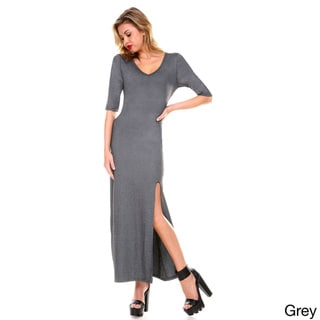 Stanzino Women's V-neck Maxi Dress with Slit