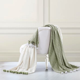 Amrapur Overseas 2 Pack 100-percent Cotton Cross-stitch Throws