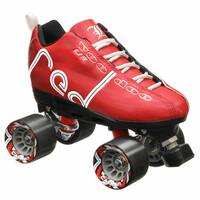 Labeda Voodoo U3 Quad Roller Speed Skates Customized Red Skates with Black Cayman Wheels