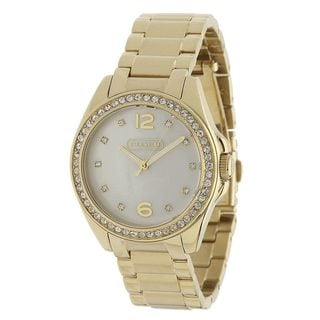 Coach Women's 14501661 'Tristen' Crystal Gold-Tone Stainless Steel Watch