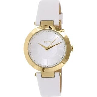DKNY Women's NY2295 'Sunray' White Leather Watch