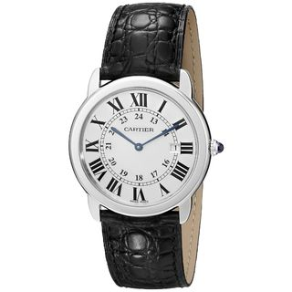 Cartier Men's W6700255 'Ronde Solo' Black Leather Watch