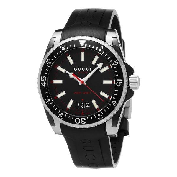 e446b168de0 Shop Gucci Men s YA136303  Dive  Black Rubber Watch - Free Shipping ...