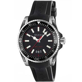 Gucci Men's YA136303 'Dive' Black Rubber Watch