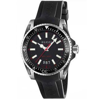 Gucci Men's YA136303 'Dive' Black Rubber Watch