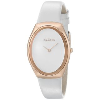 Skagen Women's SKW2296 'Madsen' White Leather Watch