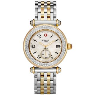 Michele Women's 'Caber' Diamond Two-tone Stainless Steel Watch