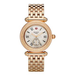 Michele Women's MWW16A000044 'Caber' Diamond Rose-Tone Stainless Steel Watch
