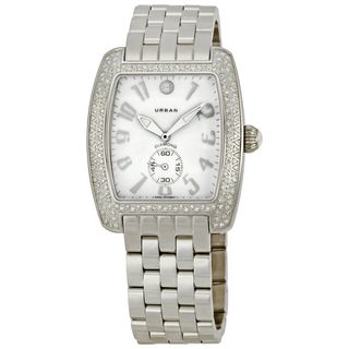 Michele Women's MWW02M000046 'Urban Blanc' Diamond Stainless Steel Watch