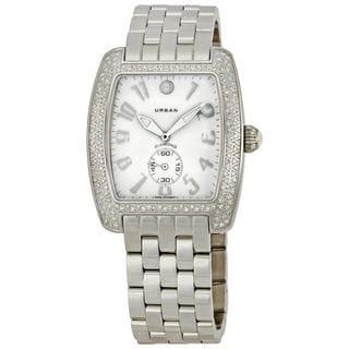 Michele Women's MWW02M000046 'Urban Blanc' Diamond Stainless Steel Watch