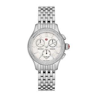 Michele Women's MWW23A000001 'Jetway' Chronograph Diamond Stainless Steel Watch