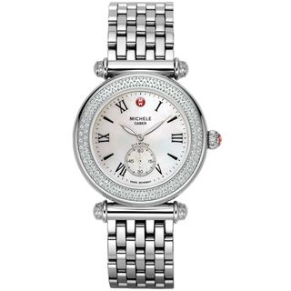 Michele Women's MWW16A000001 'Caber' Diamond Stainless Steel Watch