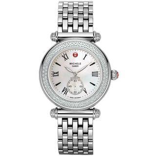Michele Women's MWW16A000001 'Caber' Diamond Stainless Steel Watch