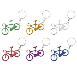 Ventura Assorted Color Bicycle Key Chain 12 pack