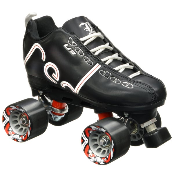 Labeda Voodoo U3 Quad Customized Black Roller Speed Skates with Black Cayman Wheels