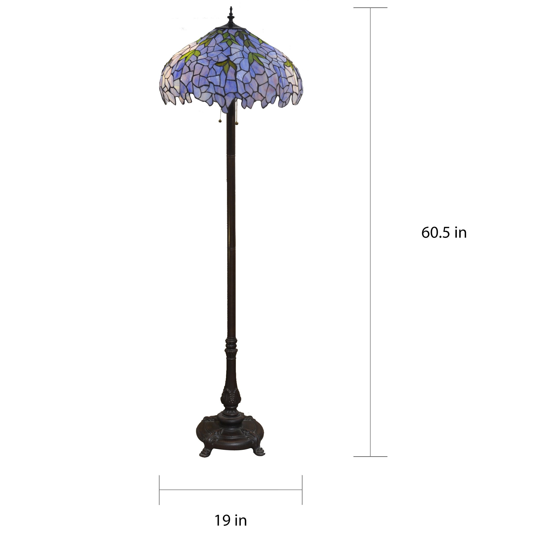 Tiffany Style 19 Inch Floor Lamp