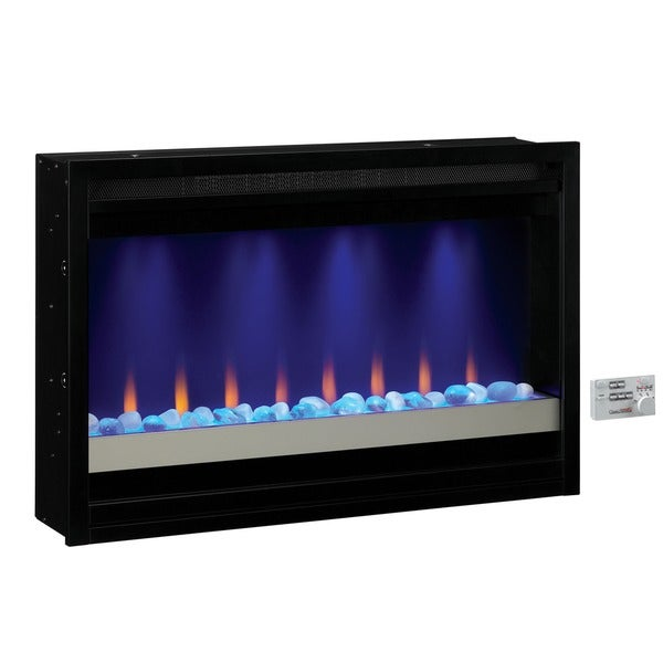 Classicflame 36eb111 grc 36 inch contemporary built in 120 volt electric fireplace insert free - Contemporary electric fireplace insert accessories ...