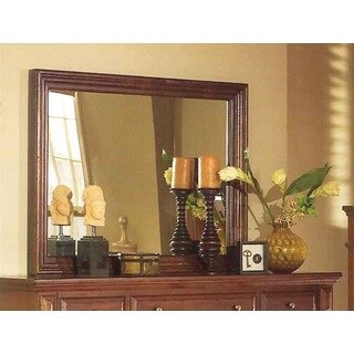 Framed Beveled Glass Torreon Mirror - Antique Pine