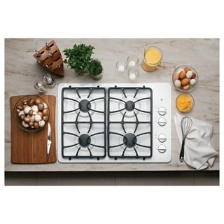 GE Black 30-inch Built-in Gas Cooktop
