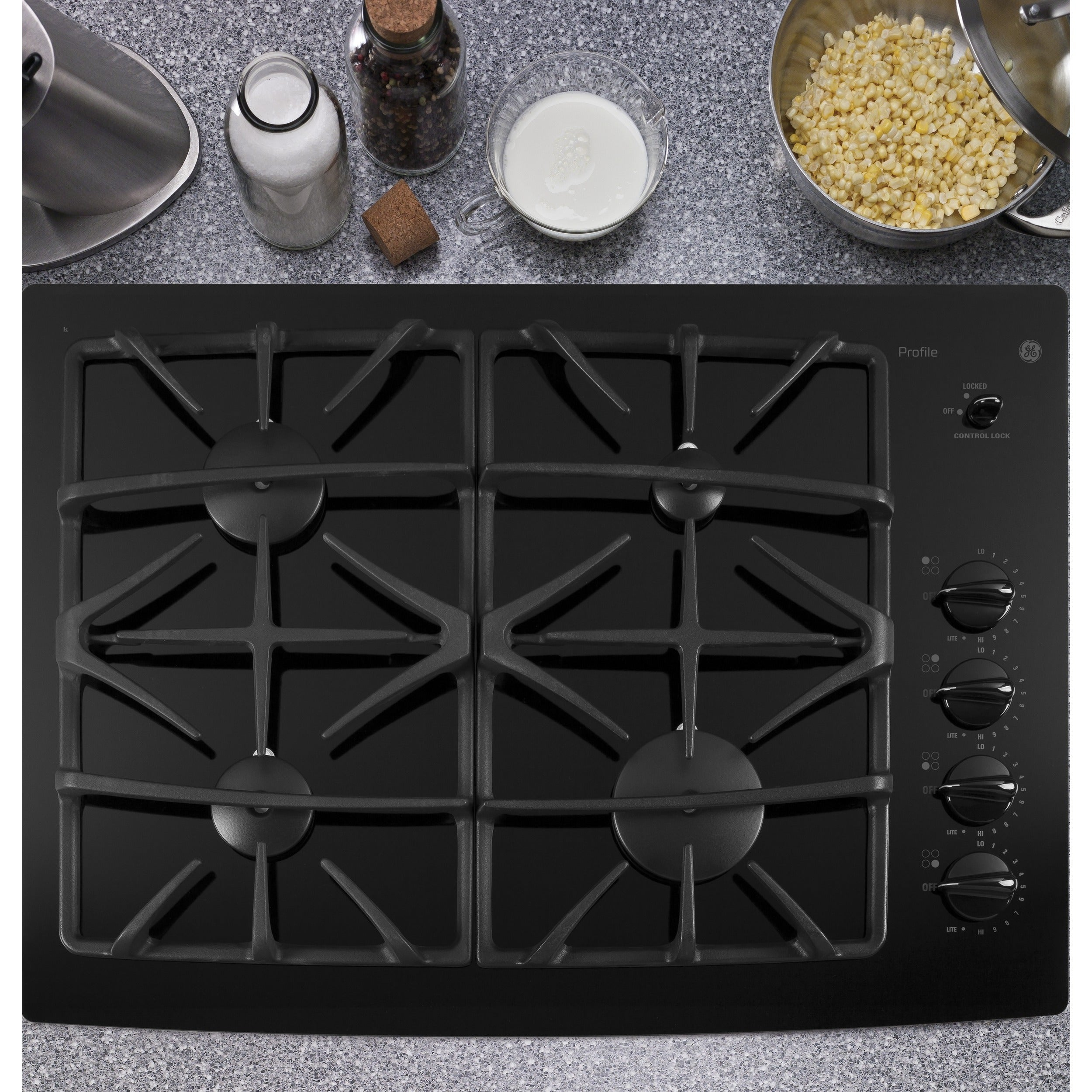 GE Profile Series 30-inch Built-in Gas Cooktop (Silver) (...