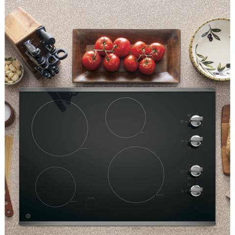 GE 30-inch Built-in Knob Control Electric Cooktop