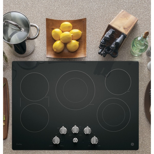 Discount Electric Cooktops 30 In ~ Ge profile series inch built in knob control electric