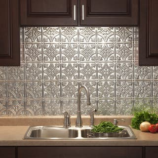 Fasade Traditional Style #1 Brushed Aluminum Backsplash Panel|https://ak1.ostkcdn.com/images/products/10336122/P17446144.jpg?impolicy=medium