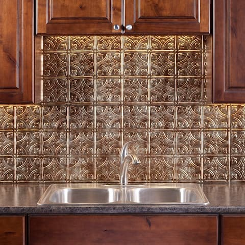 Fasade Traditional Style #1 Bermuda Bronze 18-inch x 24-inch Backsplash Panel