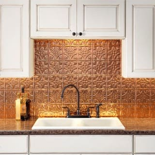 Fasade Traditional Style #1 Polished Copper Backsplash 18-inch x 24-inch Panel|https://ak1.ostkcdn.com/images/products/10336133/P17446153.jpg?impolicy=medium