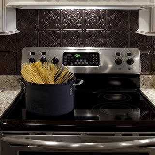 Fasade Traditional Style #1 Smoked Pewter Backsplash 18-inch x 24-inch Panel