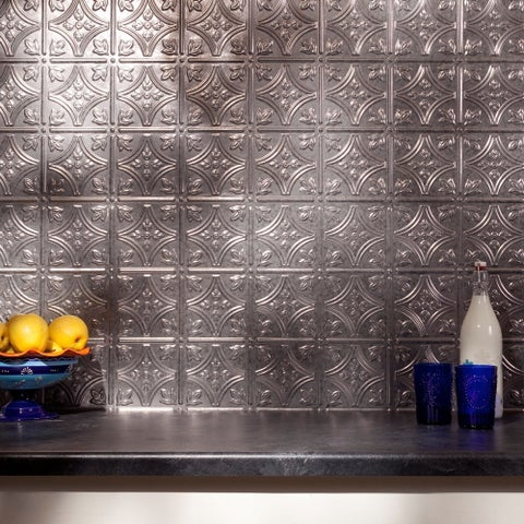 Fasade Traditional Style #1 Galvanized Steel Backsplash Panel
