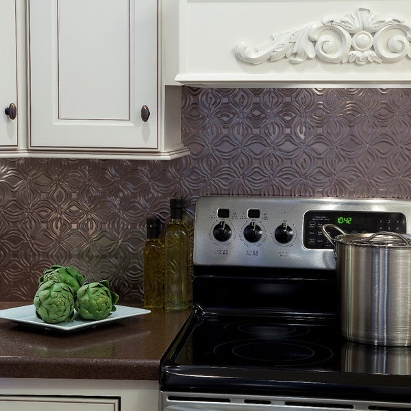 fasade lotus backsplash in brushed nickel 18 square foot kit free