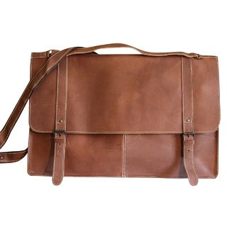 Sharo Large Leather Tool Brief Bag and Messenger