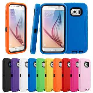 Gearonic Hybrid Rubber Heavy Duty Hard Phone Case for Samsung Galaxy S6