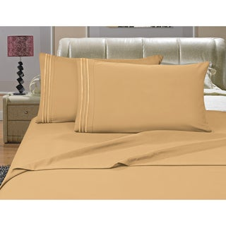 Porch & Den Briggs Deep Pocket Bed Sheet Set (Camel - Twin)