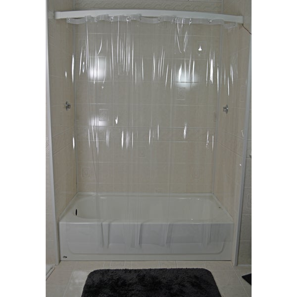 Shop Crystal Shiny Clear 7 Gauge Vinyl Shower Curtain - Free ...