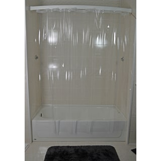 Crystal Shiny Clear 7 Gauge Vinyl Shower Curtain
