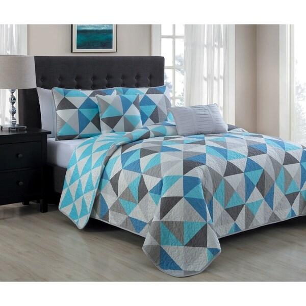 Avondale Manor Seraphina Blue 5-piece Quilt Set