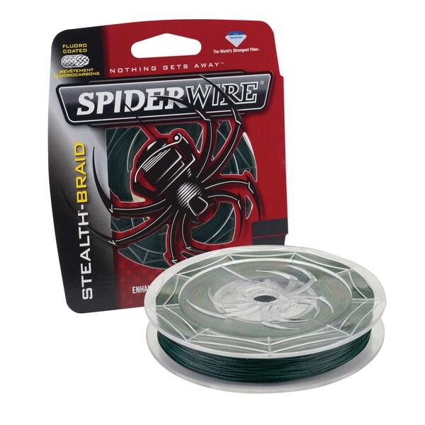 Spiderwire Stealth Braid Moss Green 15-pound 500 Yards