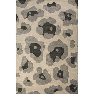 National Geographic Hand-Tufted Animal Pattern Oyster gray/String Wool (2x3) Area Rug